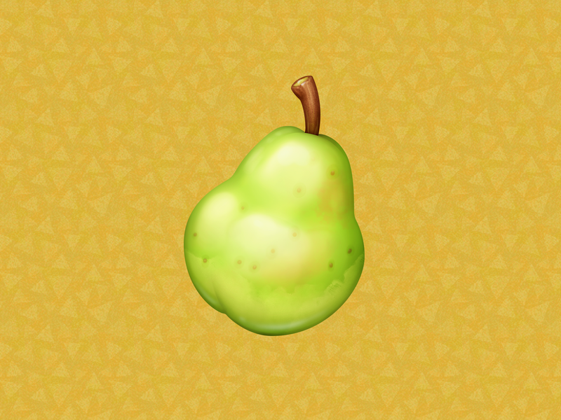 Pear pear acnh fruit animal crossing food icon food illustration icon