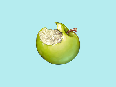 Reasons PPB Are Deploying Chemical Weapons Against Citizens, #2 acab blm protest apple food icon food illustration illustration icon