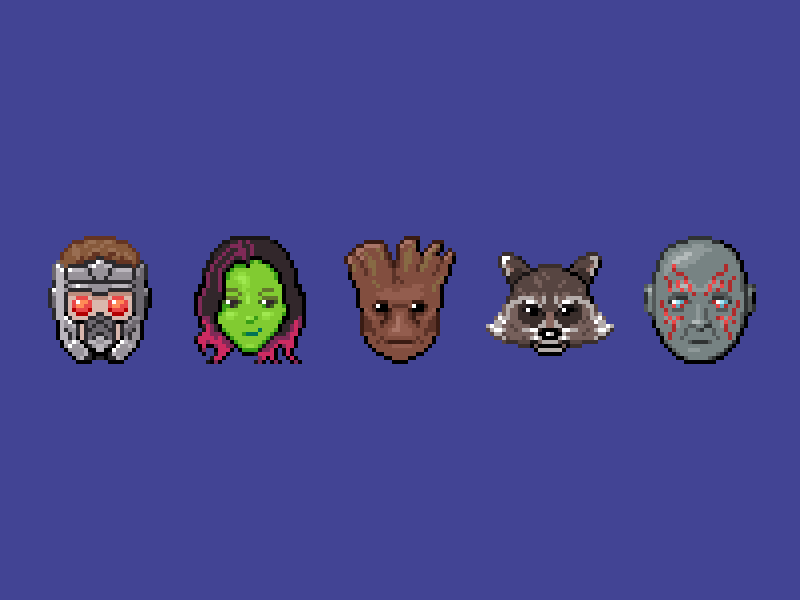 Pixel Guardians Of The Galaxy By Alexa Grafera For Parakeet