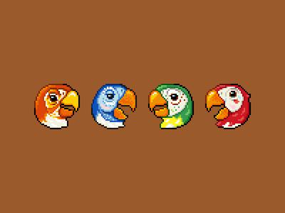 Pixel Tiki Room Birds
