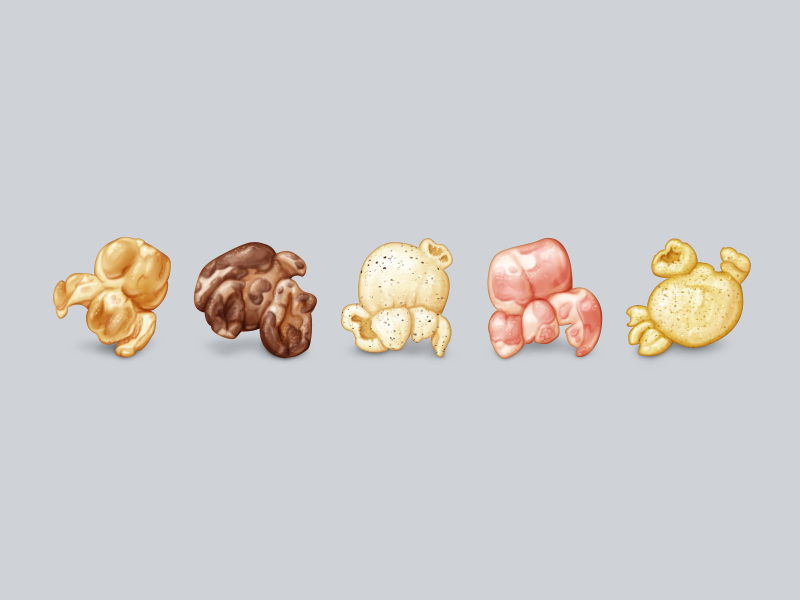 Flavored Popcorn Emoji by Alexa Grafera for Parakeet on Dribbble