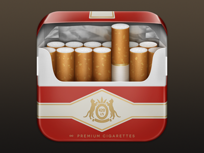 iSmoke Icon iphone icon cigarettes packaging ismoke iphone icon ios ios icon