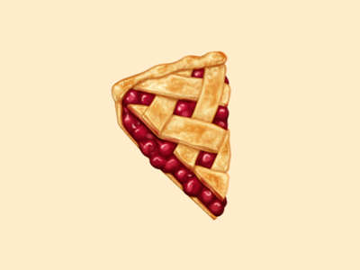 Pie cherry pie dessert food oven june icon