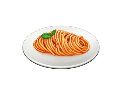 Bucatini all'Amatriciana bucatini pasta food barilla illustration icon