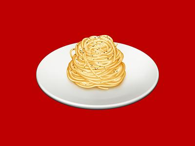 Spaghetti Cacio e Pepe spaghetti pasta food barilla illustration icon