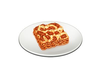 Lasagne alla Bolognese lasagne lasagna pasta food barilla illustration icon
