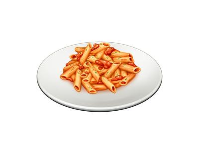 Penne all'Arrabbiata tomato penne pasta food barilla illustration icon