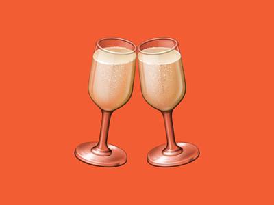 🥂 Clinking Glasses – U+1F942 cheers translucent glass champagne beverage drink food facebook emoji icon