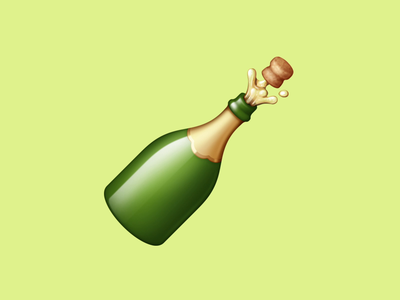 🍾 Bottle With Popping Cork – U+1F37E