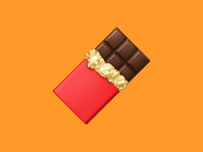 🍫 Chocolate Bar – U+1F36B foil wrapper chocolate sweets candy food facebook emoji icon