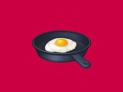 🍳 Cooking – U+1F373 cooking frying skillet pan fried egg egg food facebook emoji icon