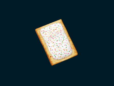 Pop-Tart sprinkles strawberry breakfast pop-tart food oven june icon