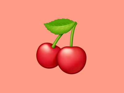 🍒 Cherries –  U+1F352 cherries cherry fruit food facebook emoji icon