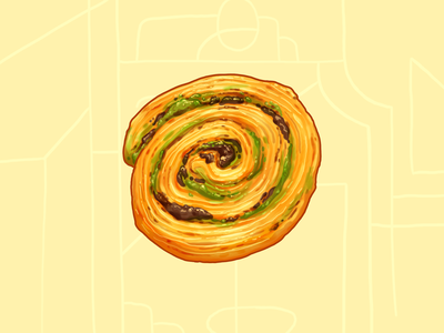 Chocolate Pistachio Snail / L'escargot Chocolat-Pistache