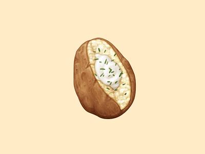 Baked Potato sour cream baked potato potato food oven june icon