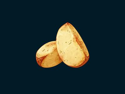 Roasted Potato roasted potatoes potato food oven june icon