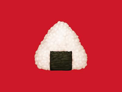 🍙 Rice Ball –  U+1F359 snack onigiri nori rice ball food facebook emoji icon