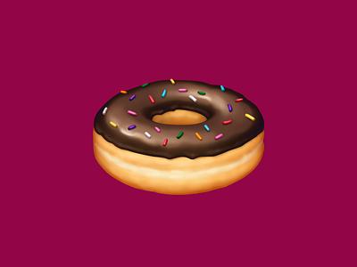 🍩 Doughnut –  U+1F369 chocolate donut chocolate sprinkles doughnut donut dessert food facebook emoji food illustration icon