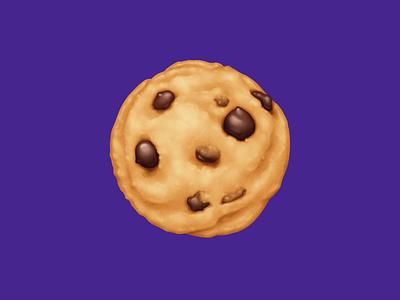 🍪 Cookie – U+1F36A chocolate chip cookie chocolate cookie dessert food facebook food illustration emoji icon