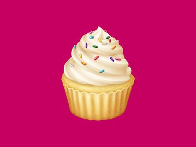 🧁 Cupcake – U+1F9C1 sprinkles frosting vanilla cupcake cupcake cake dessert food facebook emoji food illustration icon