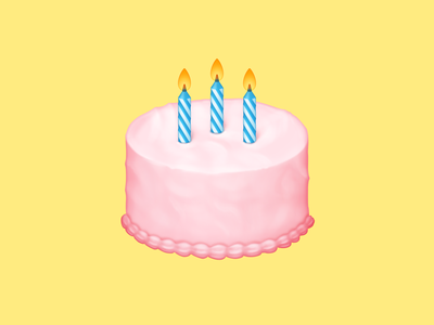 🎂 Birthday Cake – U+1F382