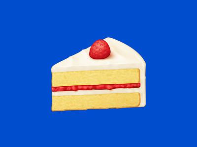 🍰 Shortcake – U+1F370 frosting strawberry strawberry shortcake shortcake cake dessert food facebook food emoji emoji food illustration icon