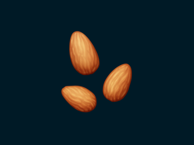 Almonds almonds nuts snack food oven june food illustration food icon icon