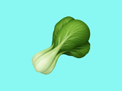 🥬 Leafy Green – U+1F96C food icon bok choy greens vegetable food facebook food emoji emoji food illustration icon