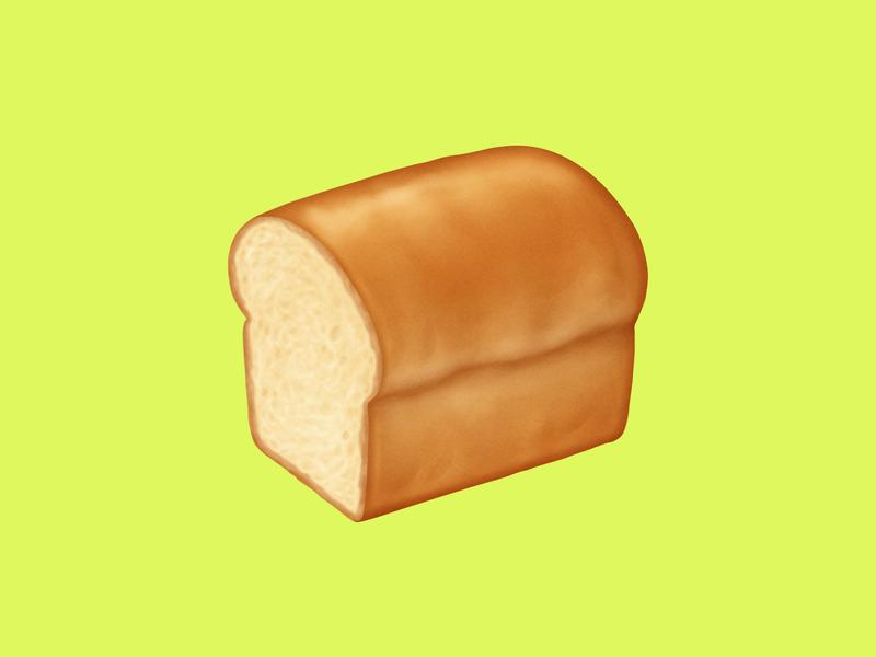 🍞 Bread – U+1F35E white bread bread food facebook food emoji emoji food icon food illustration icon