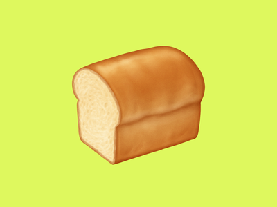 🍞 Bread – U+1F35E white bread bread food facebook food emoji emoji food icon food illustration icon