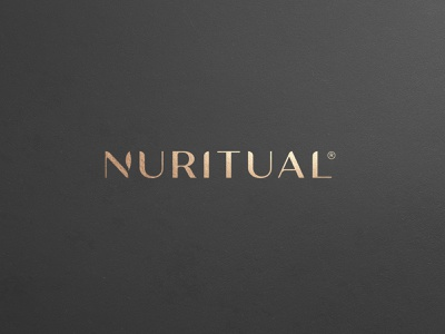 Nuritual Healthy supplements modern premium brand natural branding leaves leaf green logo classic golden gold supplements natural healthy premium 99design minimalist wordmark minimal logo clean branding