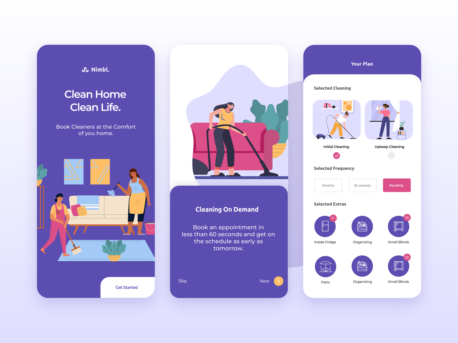 Home Cleaning App Design by Alexander Keith on Dribbble