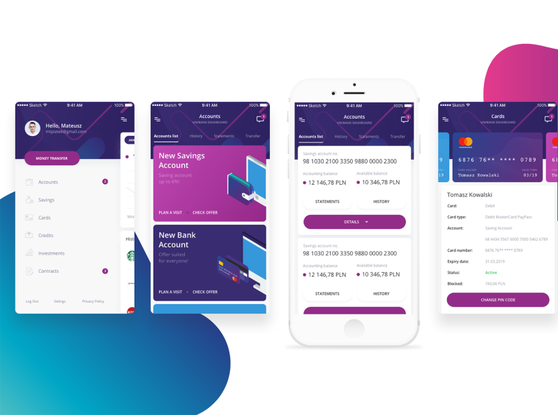 online banking dash mobile preview