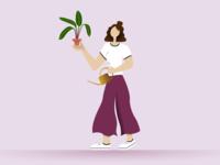 Plant Lover Illustration character illustration graphic design vector design adobe illustrator adobe
