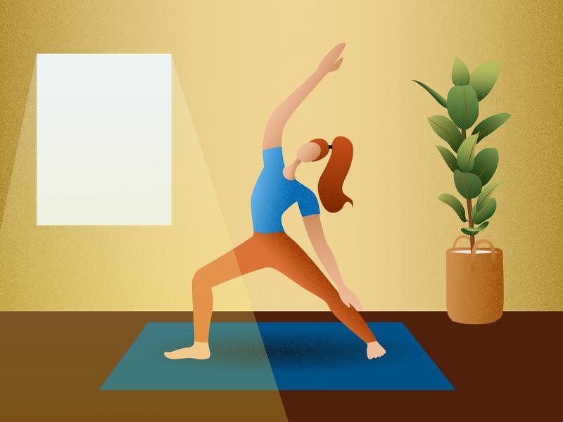 Sunny Yoga yoga vector illustration vector art affinity designer character design character illustration graphic design vector design