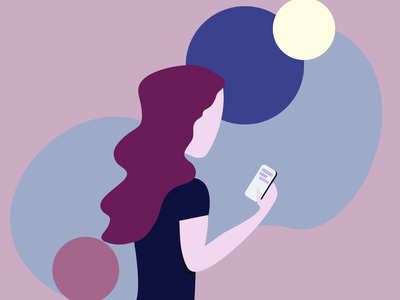 Phone User adobe adobe illustrator flat design vector illustration