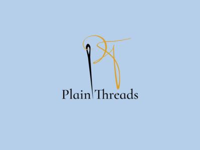 Plain Threads Logo script logo typography dailylogochallenge branding graphic design vector design adobe illustrator adobe