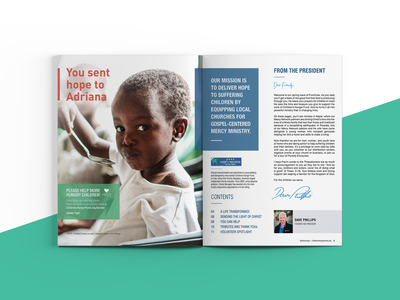 Spring 2019 Frontlines Spread newsletters newsletter publication publication design editorial editorial layout editorial design print mockup flat layout minimal typography spread print layout indesign booklet design print design graphic design design
