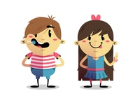 Flat Kids Characters