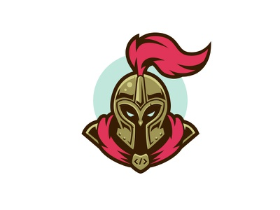 Knights of the Code vectors code badge helmet illustration knight icon logo