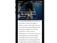 Spare App Article Reader