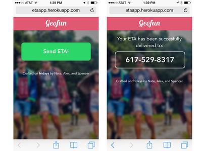 Geofunapp.com User 2 flow location web app web ios7 gps
