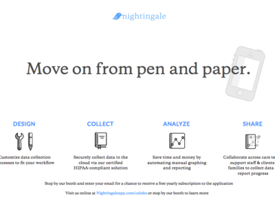 Nightingale Ad pamphlet ad one-pager