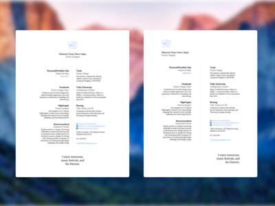 Resume Layouts resume layout typography