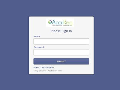 Accureg New App login
