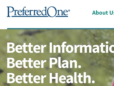 PreferredOne Redesign layout health