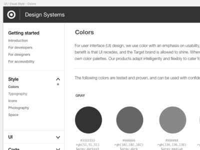 Design Systems styleguide patternlibrary ui target designsystems