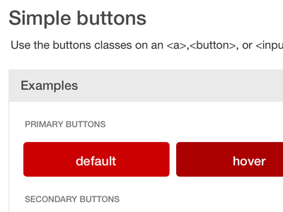 UI Patterns - Buttons target js node designsystems styleguide buttons ui