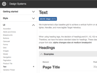 Design Systems - Text Page