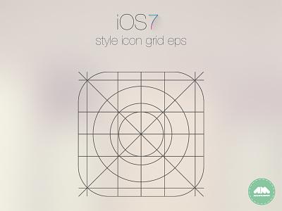IOS7 App Icon Grid ios ios7 app icon grid free eps